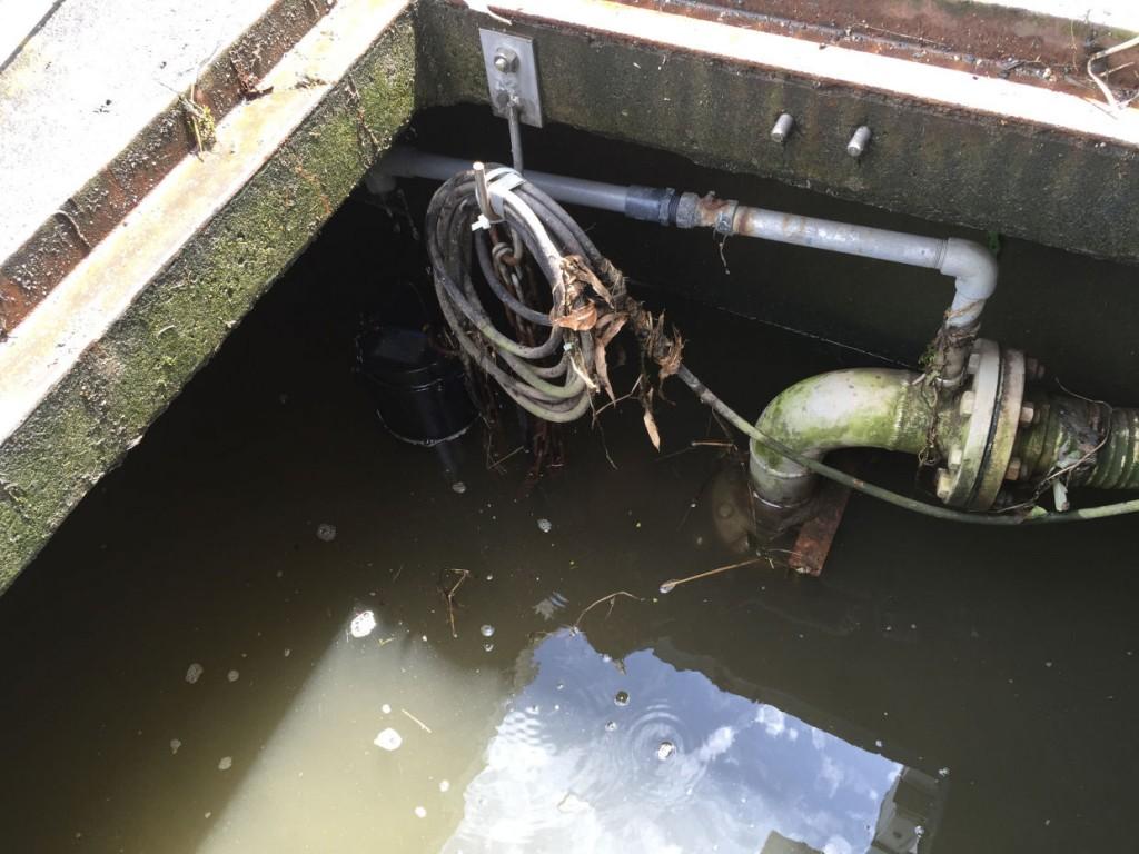 水田用揚水ポンプの故障対応