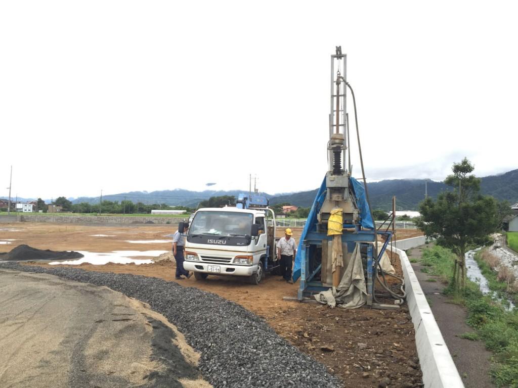 ボーリング井戸掘削 松山市中野町