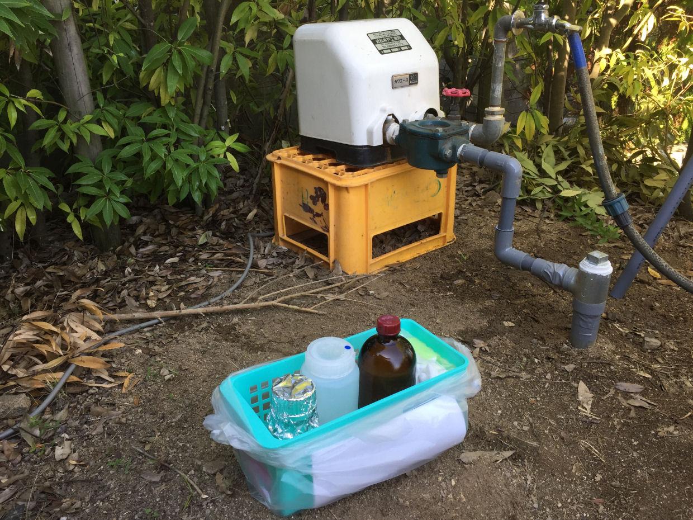 打抜き井戸の水質検査 伊予郡松前町