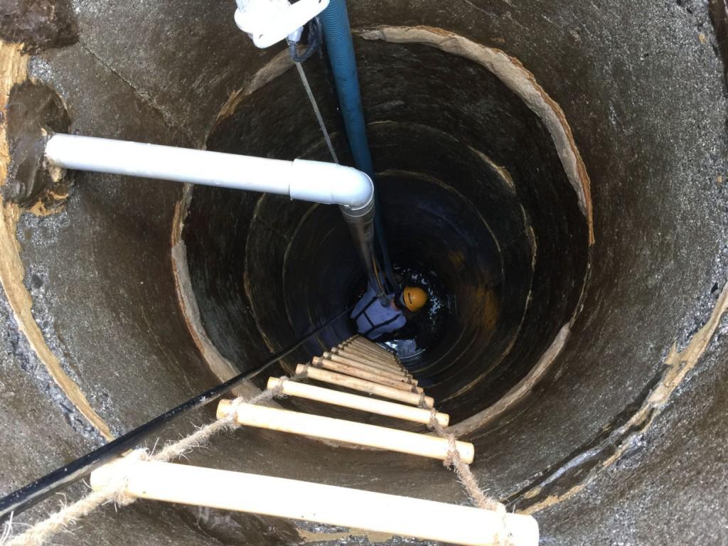 井戸洗浄工事 松山市谷町