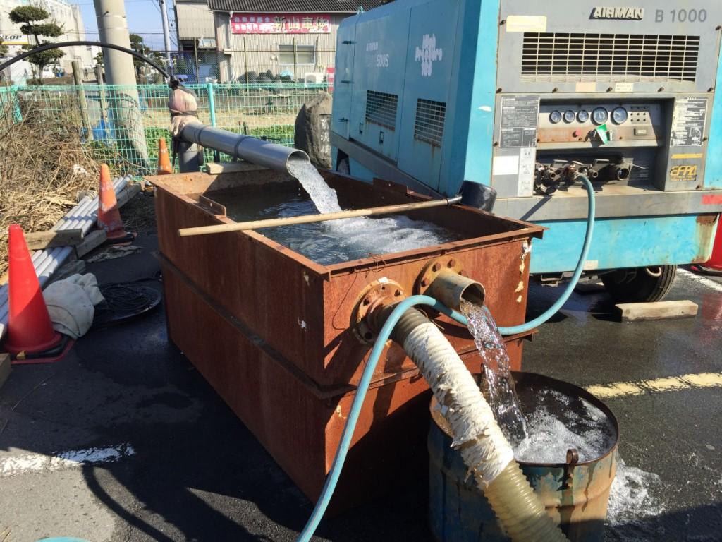ボーリング井戸洗浄工事