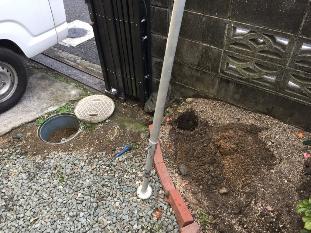 松山市中村 打抜き井戸