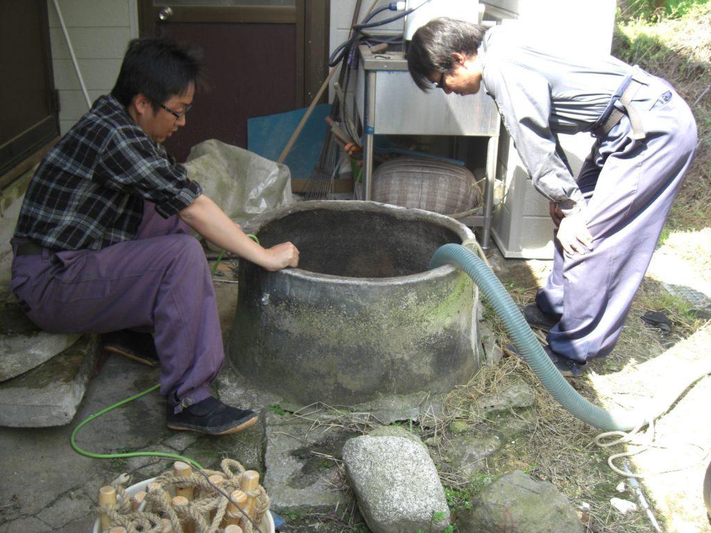 井戸補強工事