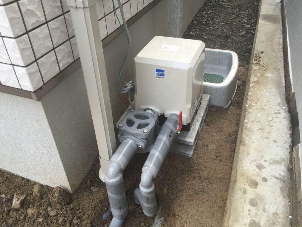 井水ポンプ取付工事 (松山市永代町)