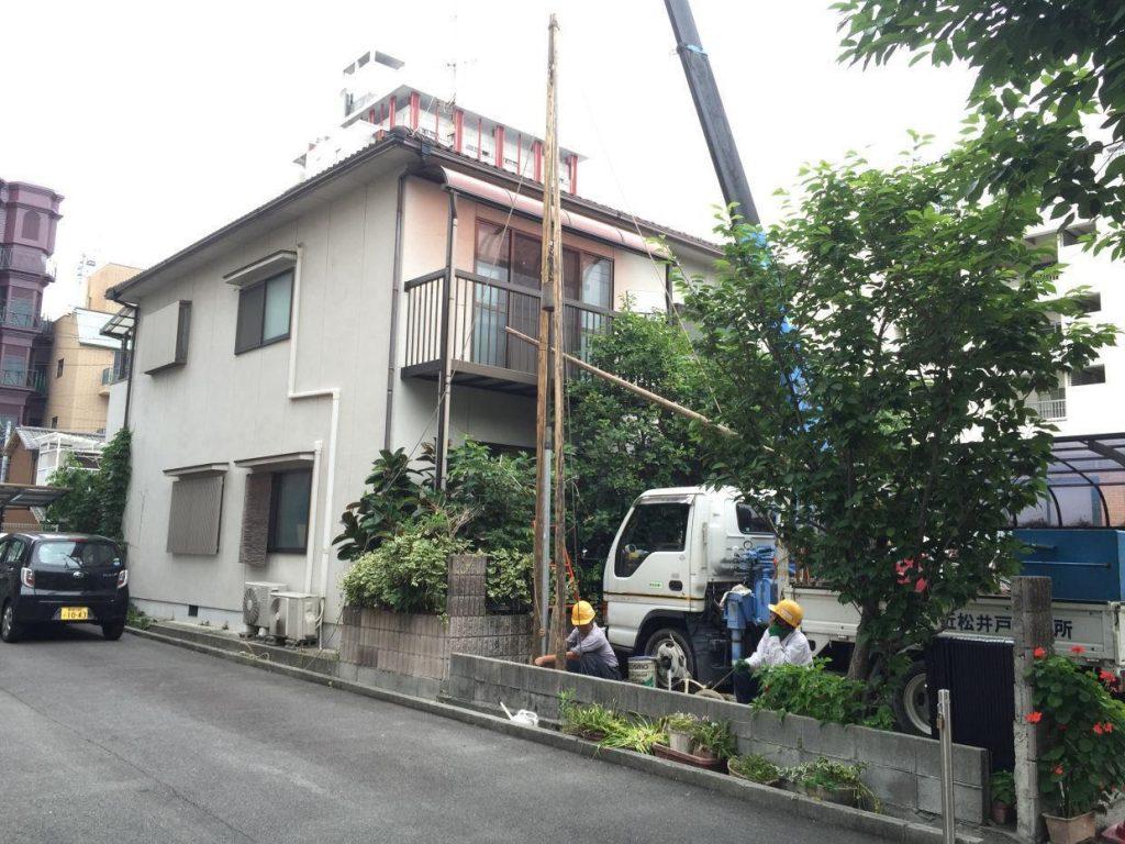 松山市三番町 打抜き井戸新設工事