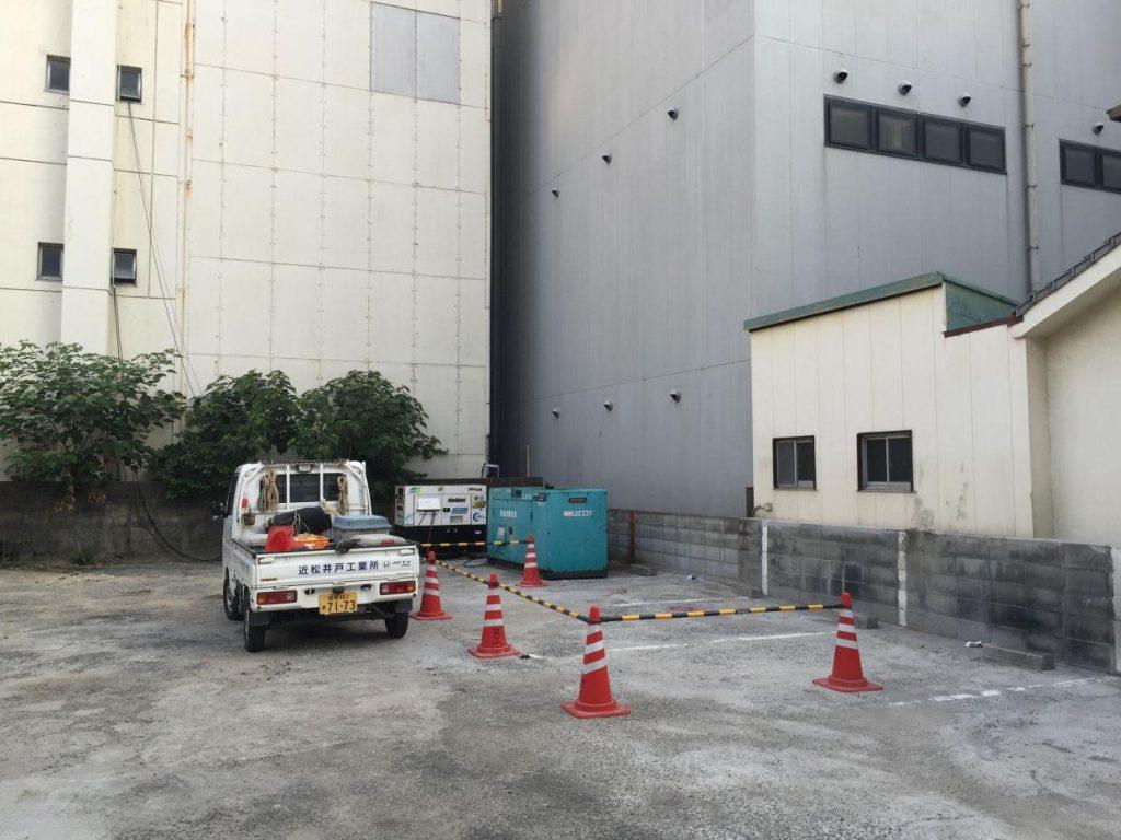ボーリング井戸新設工事(松山市二番町)