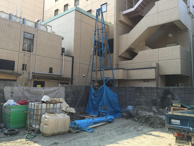 ホテルにてボーリング井戸新設工事(松山市勝山町)