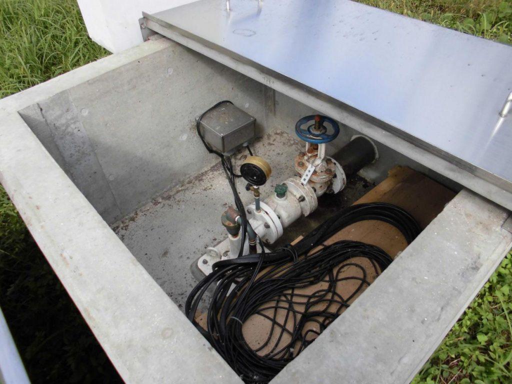 深井戸水中ポンプ 取替工事
