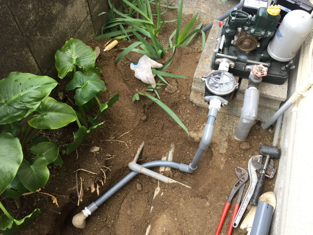 吸水配管側 修繕