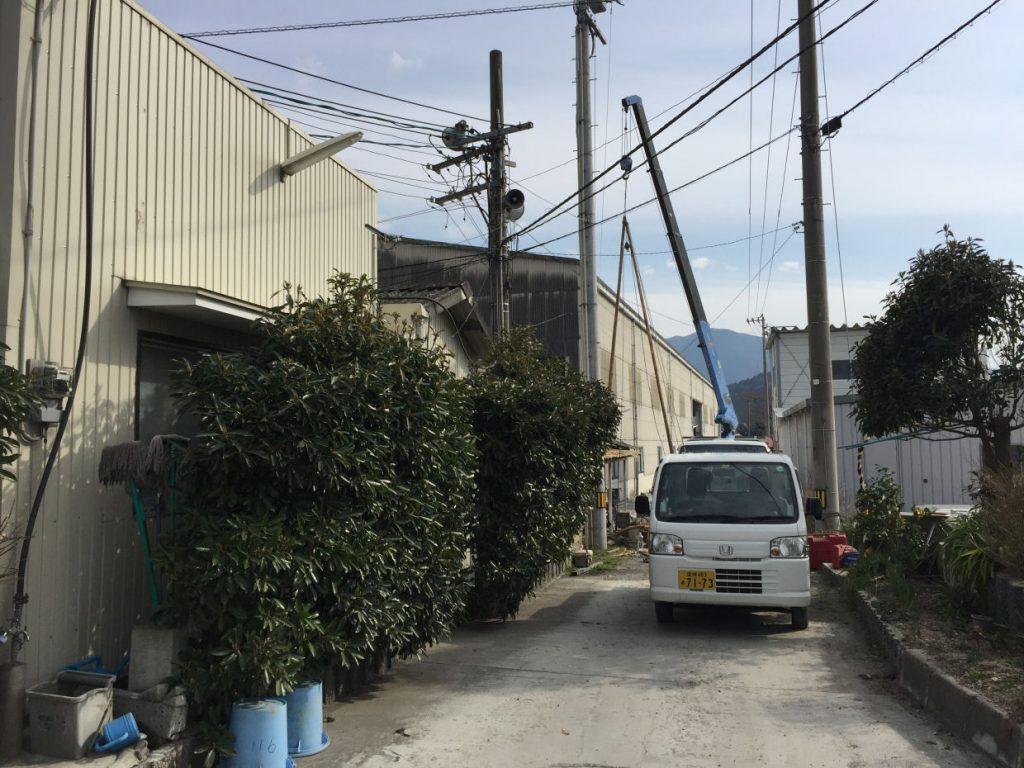 打抜き井戸新設工事(東温市見奈良)