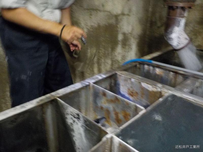 分湯設備 送湯ポンプメンテナンス