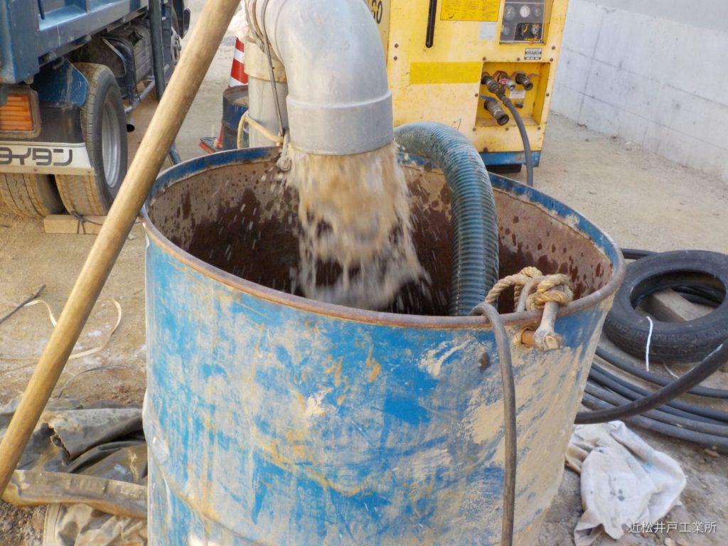 ボーリング井戸 エアーリフト洗浄