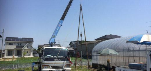 農業用打抜き井戸の新設工事(伊予郡松前町)