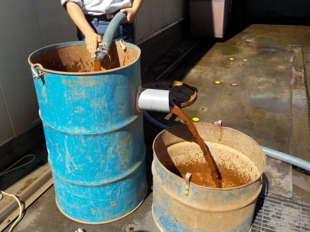 水の出が悪い原因を調査。井戸洗浄実施(松山市宮西)
