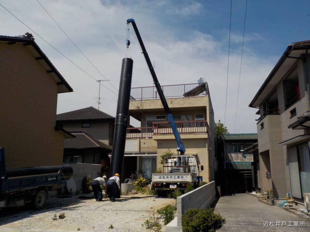 危険な古井戸の補強(伊予市三島町)