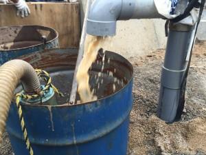 ボーリング井戸の洗浄