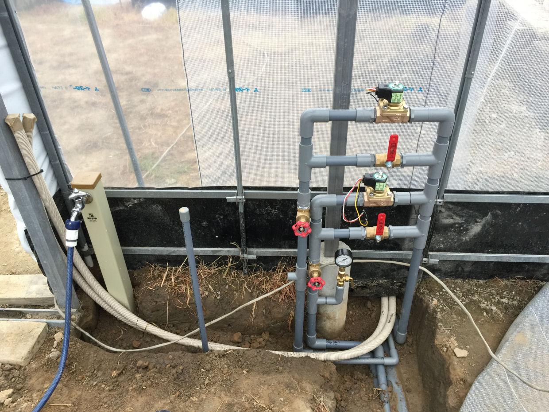 ハウス 給水配管工事