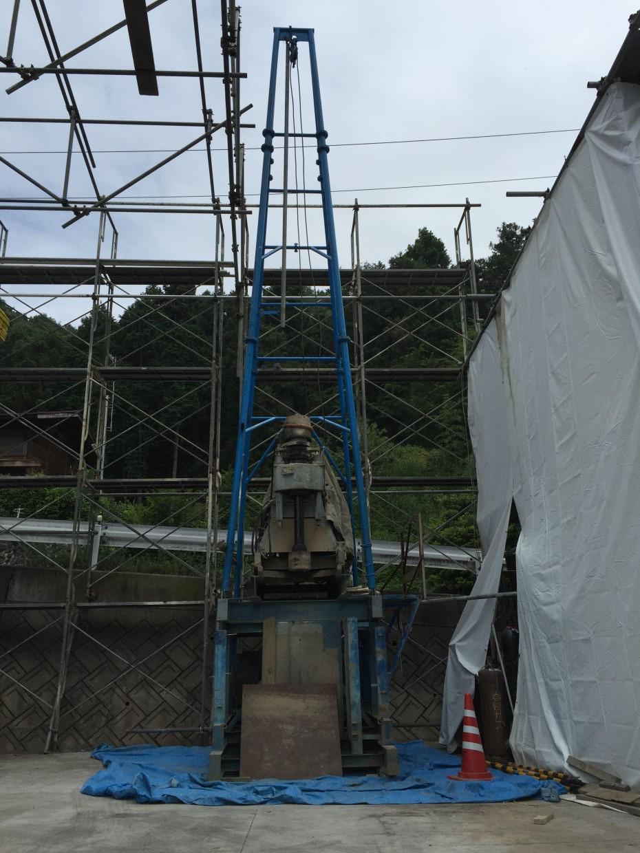 松山市東大栗町 ボーリング井戸新設工事