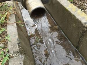 地下水の湧水量