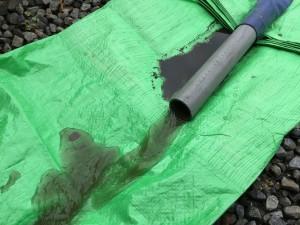 井戸洗浄簿の濁れ水