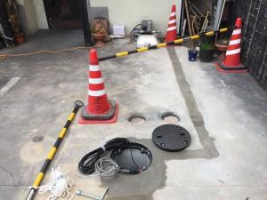 井水ポンプ設置完成