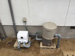 松山市祝谷 井水ポンプ取替工事