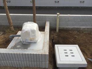 井戸洗浄と井水ポンプ新設工事(松山市東野)