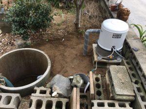 井戸洗浄と井水ポンプ取替工事(松山市南吉田町)