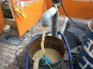 湧水量の少ない井戸