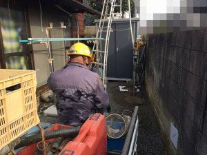 打抜き井戸新設工事(松山市立花)