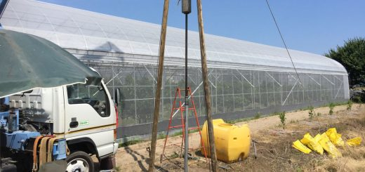 農業潅水用に打抜き井戸新設(松山市安城寺町)