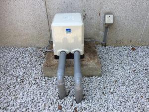穴の開いたポンプの取替(松山市北吉田町)