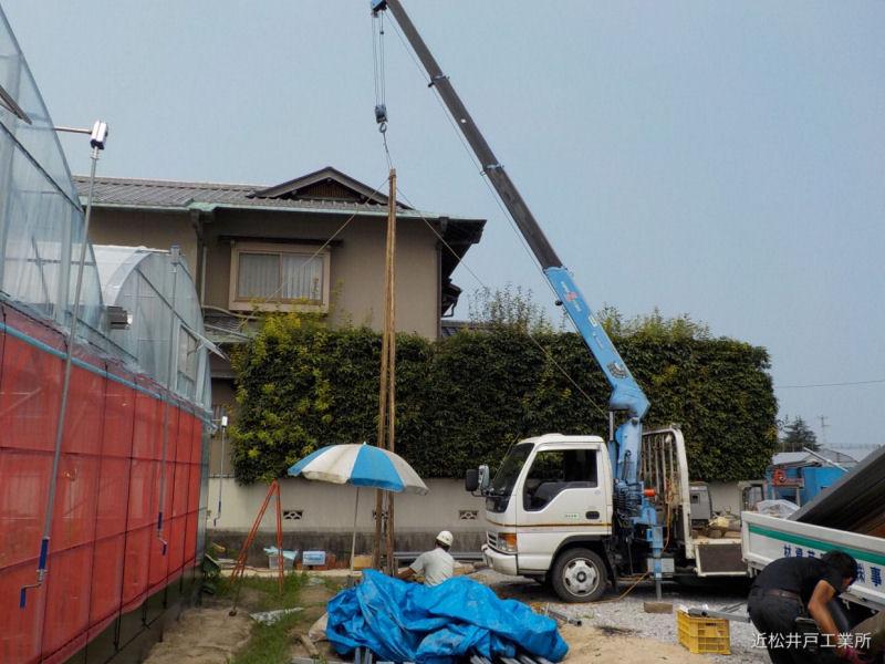 農業用井戸の新設&ポンプ取付(松山市余戸)