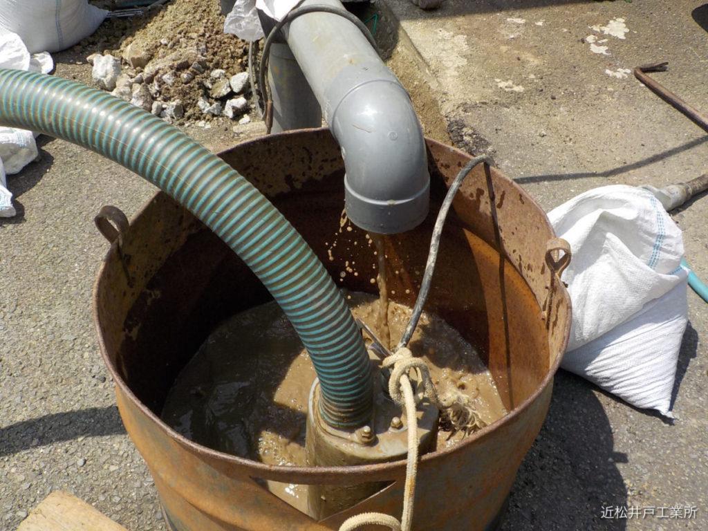 ボーリング井戸洗浄とジェットポンプ取替(松山市堀江町)