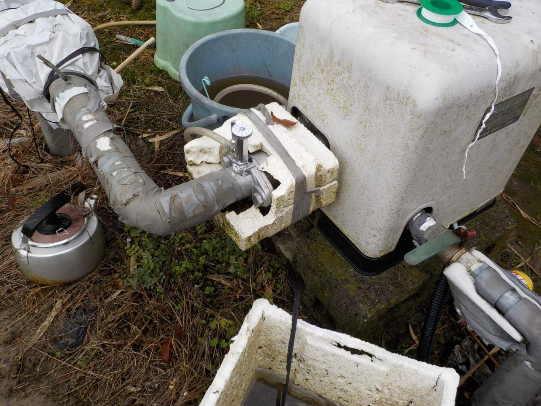 農業ポンプの液肥混入器を取替