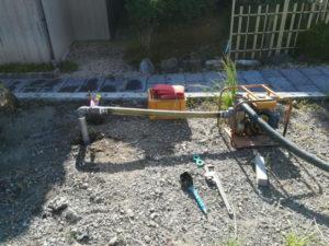 水の都で打抜き井戸工事(西条市)