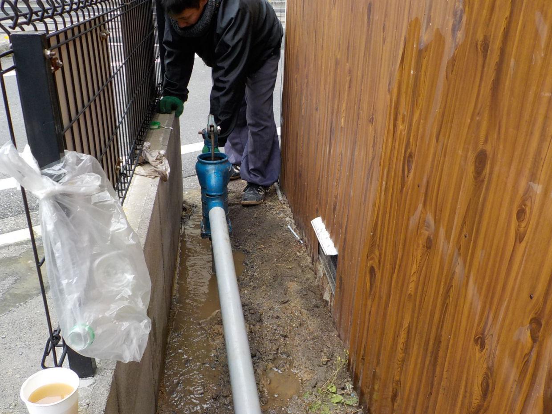 記念すべき新年一発目の井戸掘り!(松山市永代町)