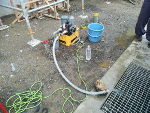 新設井戸の水質検査