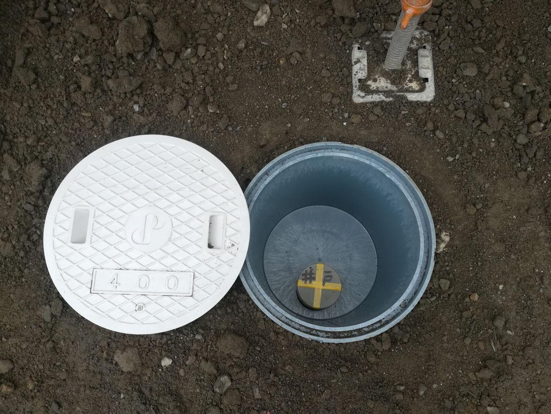 雨水桝を使った井戸ピット仕上げ