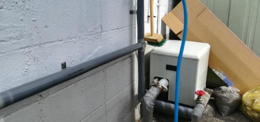 老朽化した埋設配管は廃止・・・新たに配管を!