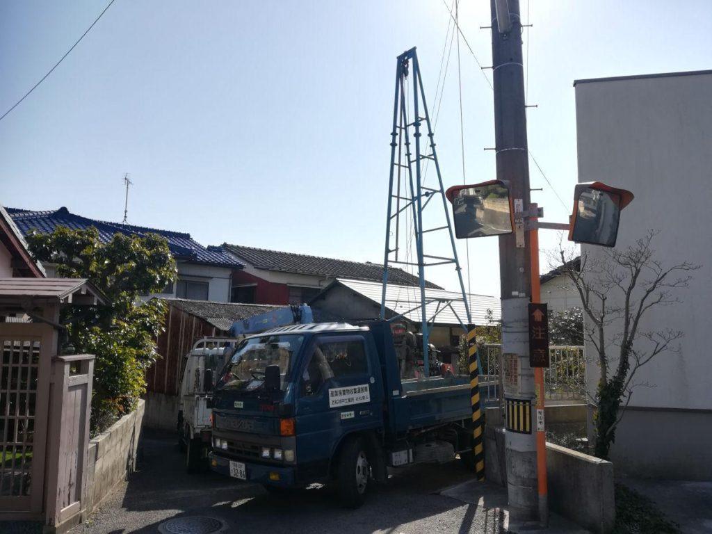 一般家庭用の深井戸掘削(松山市祝谷)