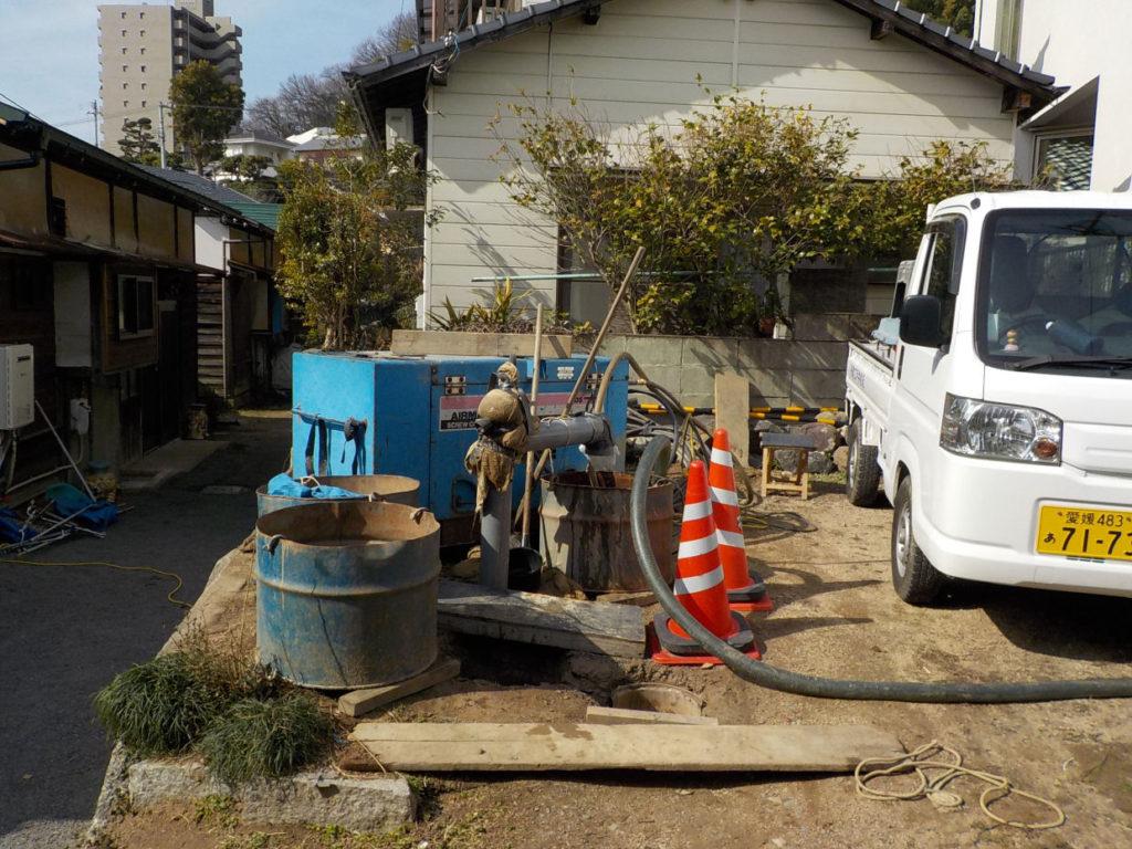 新設した井戸の洗浄仕上げ!(松山市祝谷