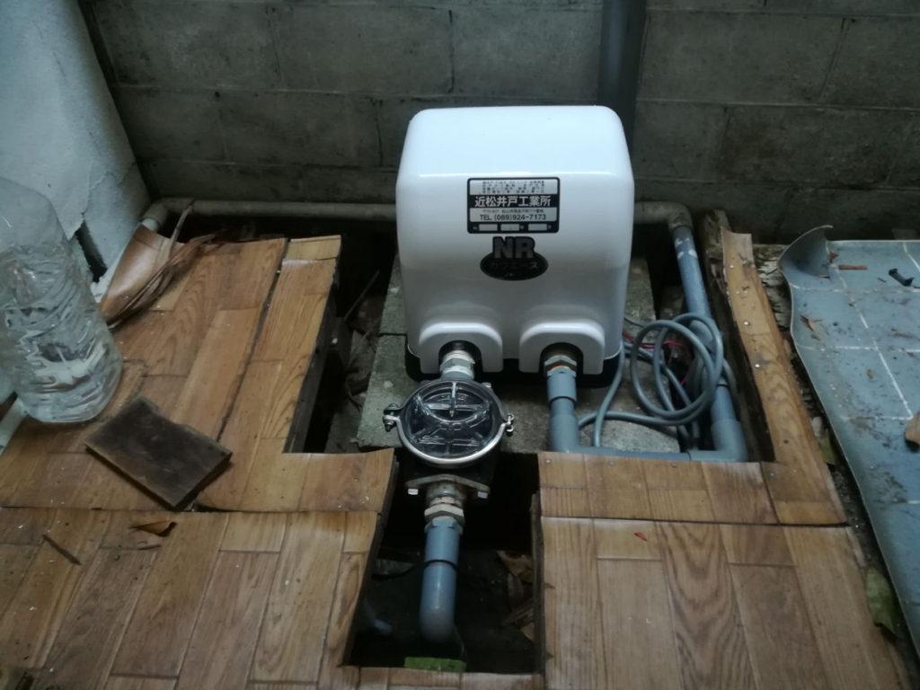 井戸ポンプの取替(松山市持田町)