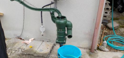 古いパイプ井戸の再利用を試みるも・・・(松山市津吉町)