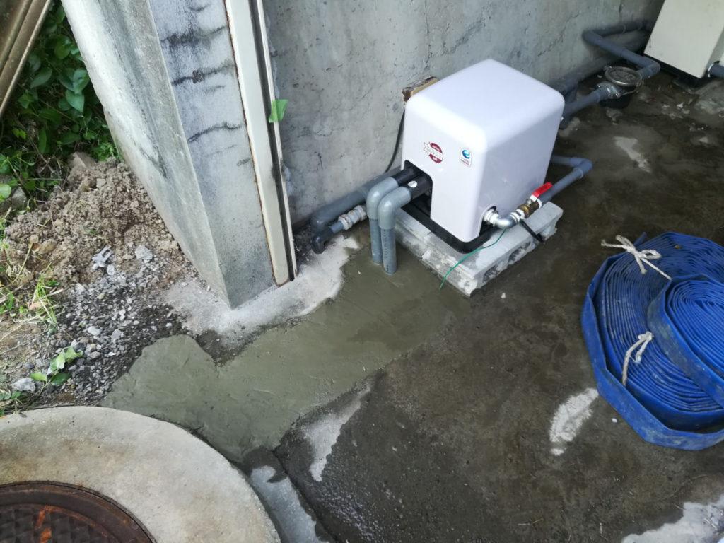 陸上ポンプを深井戸ジェットポンプに取替!(東温市下林)