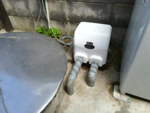 水の出が悪くなったためポンプ取替(松山市高木町)