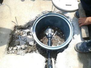 良質な水を求めて再掘削!