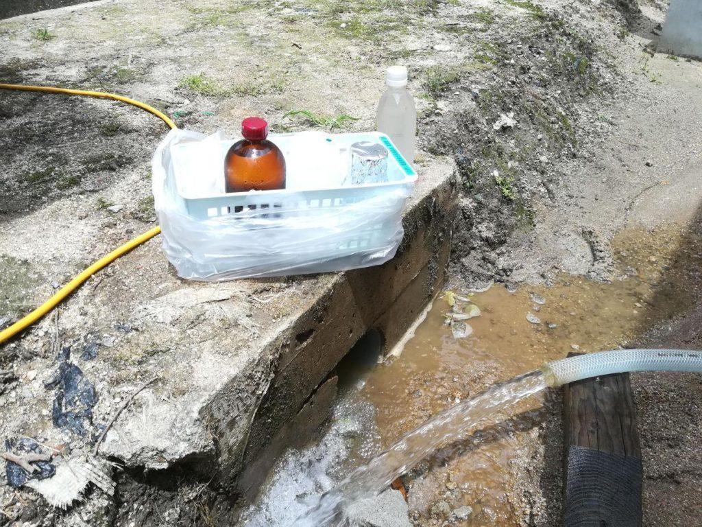 潅水用の井戸を設置(松山市竹原)