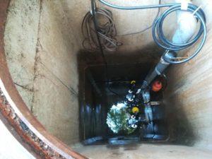 排水用の水中ポンプ取替え(伊予郡松前町)