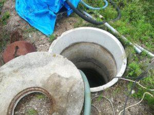 砂が出る井戸の改修工事